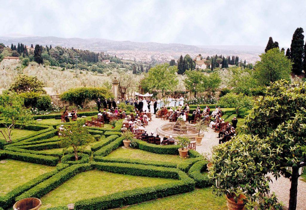 Un evento con vista spettacolare alla Villa di Maiano in Toscana, parte del network LVT