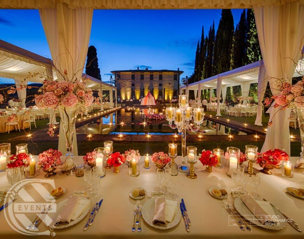 Un allestimento catering per un matrimonio da sogno in Italia