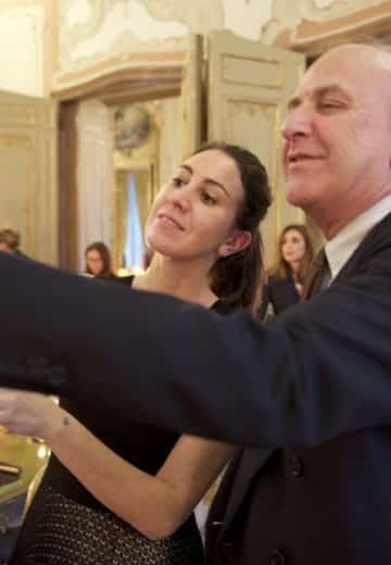 Mario Luca Giusti con sua figlia, Federica