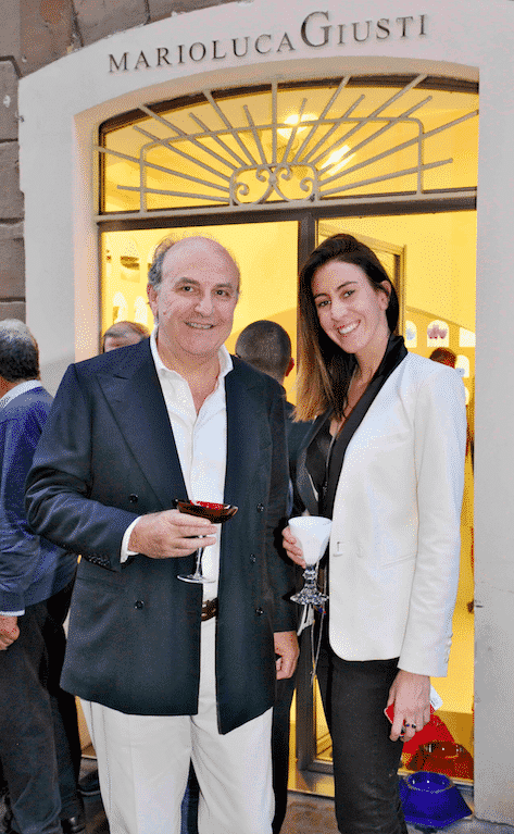 Mario Luca Giusti with his daughter, Federica
