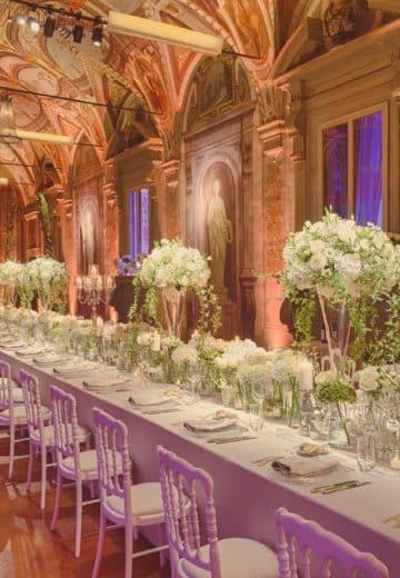 Esempio di allestimento catering per ricevimento matrimonio a Villa Corsini a Mezzomonte