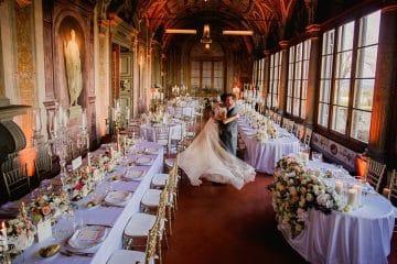sposi nella galleria di villa corsini