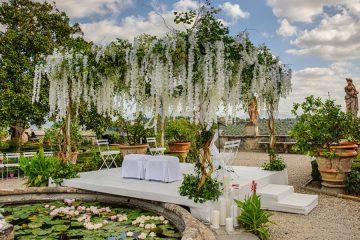 cerimonia ebraica in giardino all'italiana