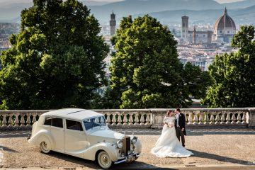 sposi a piazzale michelangelo Firenze